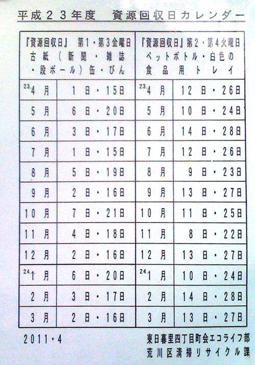 1105資源ごみ/東日暮里4丁目.jpg